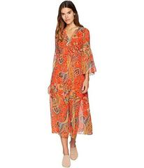 Juicy Couture Rustic Paisley Bell Sleeve Dress