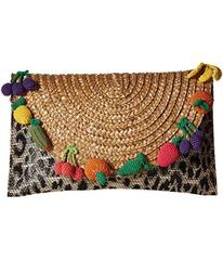 Betsey Johnson Fruit Straw Clutch