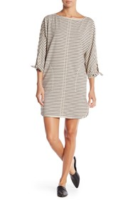 Max Studio French Terry Tie Sleeve Dress