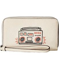 COACH Keith Haring Pebbled Leather Phone Wallet