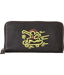 COACH Accordion Wallet in Leather Featuring Keith