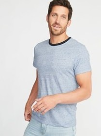 Soft-Washed Ringer Tee for Men