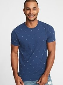 Soft-Washed Printed Perfect-Fit V-Neck Tee for Men