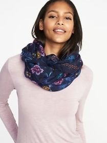 Printed Gauze Scarf for Women