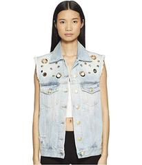 Pierre Balmain Studded Denim Vest