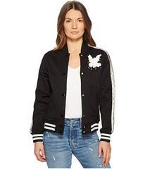 RED VALENTINO Jersey Bomber with Point D'Espr