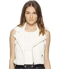RED VALENTINO Leather Vest with Boules