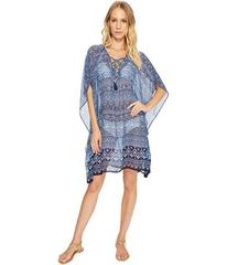 Tommy Bahama Indigo Cowrie Lace-Up Tunic Cover-Up