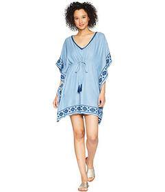 Tommy Bahama Chambray Embroidered Tunic Cover-Up