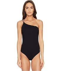 Versace Intero One Shoulder Stud Trimmed Maillot O