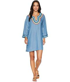 Tommy Bahama Tencel Chambray Embroidered Tunic Cov