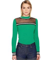 RED VALENTINO Stretch Viscose Pullover with Point