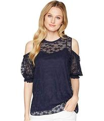 MICHAEL Michael Kors Wildflower Cold Shoulder Top