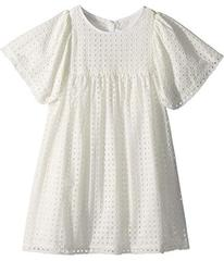 Chloe French Embroideries Short Sleeve Dress (Litt