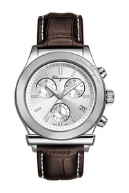 Salvatore Ferragamo Men's Quartz Embossed Leather