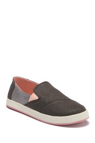 TOMS Avalon Forged Iron Twill Glimmer Sneaker (Lit