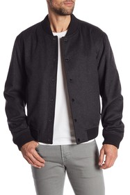 BOSS Coma Virgin Wool Blend Bomber Jacket