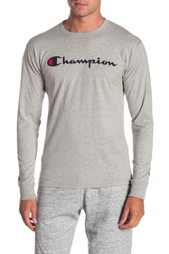 Champion Logo Print Long Sleeve Tee