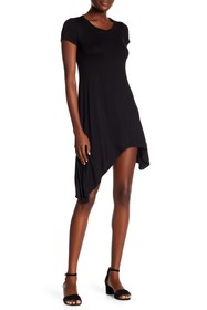 Go Couture Shoulder Sleeve Asymetrical Dress