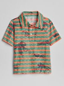 Graphic Pocket Polo T-Shirt