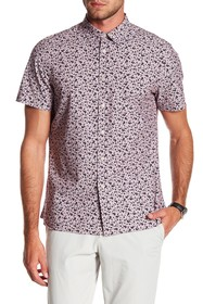 Perry Ellis Abstract Floral Short Sleeve Shirt