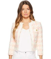 Pierre Balmain Gingham Gold Buttoned Jacket