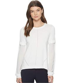 Nicole Miller High-Low Puff Sleeve Top