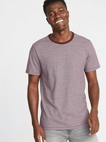 Soft-Washed Slub-Knit Ringer Tee for Men