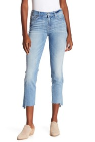 7 For All Mankind Roxanne Kick Side Cutoff Jeans
