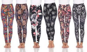Women's One-Size Soft Cozy Printed Leggings. Plus