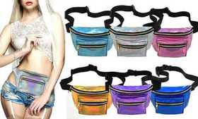 2018 Holographic Fanny Pack Waterproof PU Laser Tr