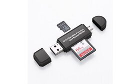 Micro USB OTG to USB 2.0 Adapter SD/Micro SD Card