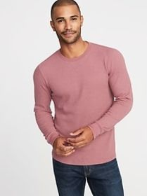 Soft-Washed Thermal-Knit Crew-Neck Tee for Men