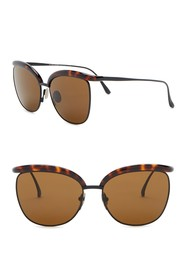 Bottega Veneta 57mm Clubmaster Sunglasses