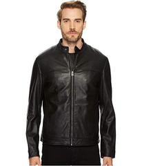 "Cole Haan 26 1/2"" Zip Front Moto Jacket with Remov"