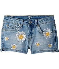 7 For All Mankind Daisy Short Shorts (Big Kids)