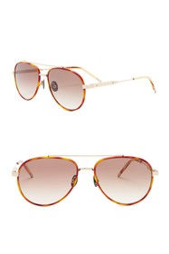 Bottega Veneta 56mm Aviator Sunglasses