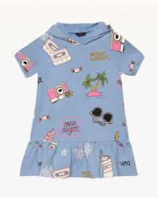 Juicy Couture Beach Doodle Fleece Dress for Girls