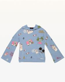 Juicy Couture Beach Doodle Fleece Pullover for Gir