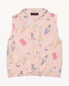 Juicy Couture Cool Treats Button Front Top for Gir