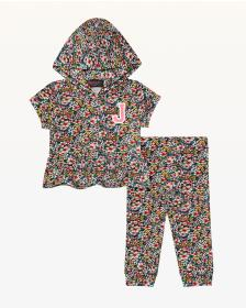 Juicy Couture Floral Frenzy Short Sleeve Hoodie Se