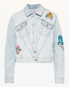 Juicy Couture JXJC Tattoo Patch Denim Jacket