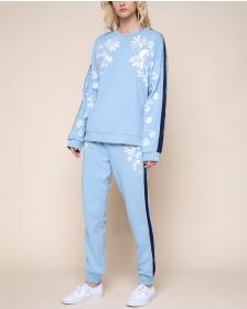 Juicy Couture Floral Embroidered French Terry Zuma