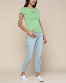 Juicy Couture Crystal Juicy Peace Ribbed Tee