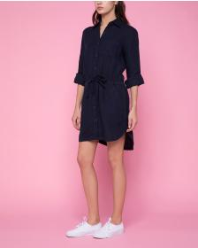 Juicy Couture Washed Linen Shirtdress