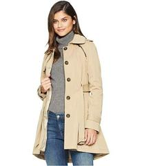 French Connection Pleated Skirt Trench Coat