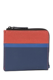 Fossil Grady Contrast Zip Around Wallet