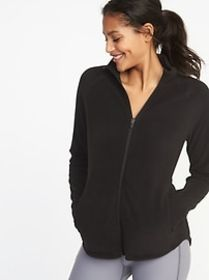 Semi-Fitted Full-Zip Performance Fleece Jacket for