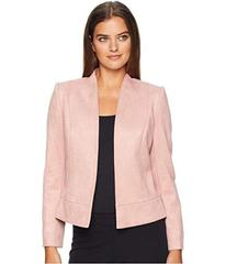 Tahari by ASL Faux Suede Jacket with Seam Detail