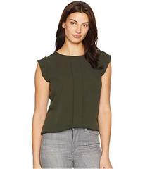 Tahari by ASL Pleat Front Flutter Sleeve Blouse